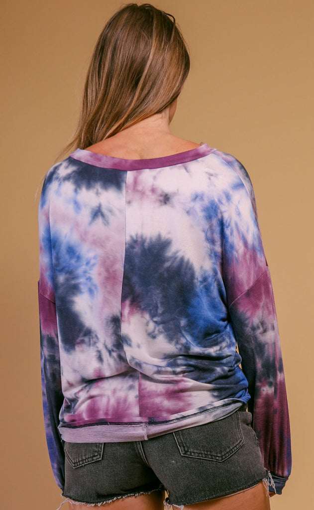 lazy terry tie dye top