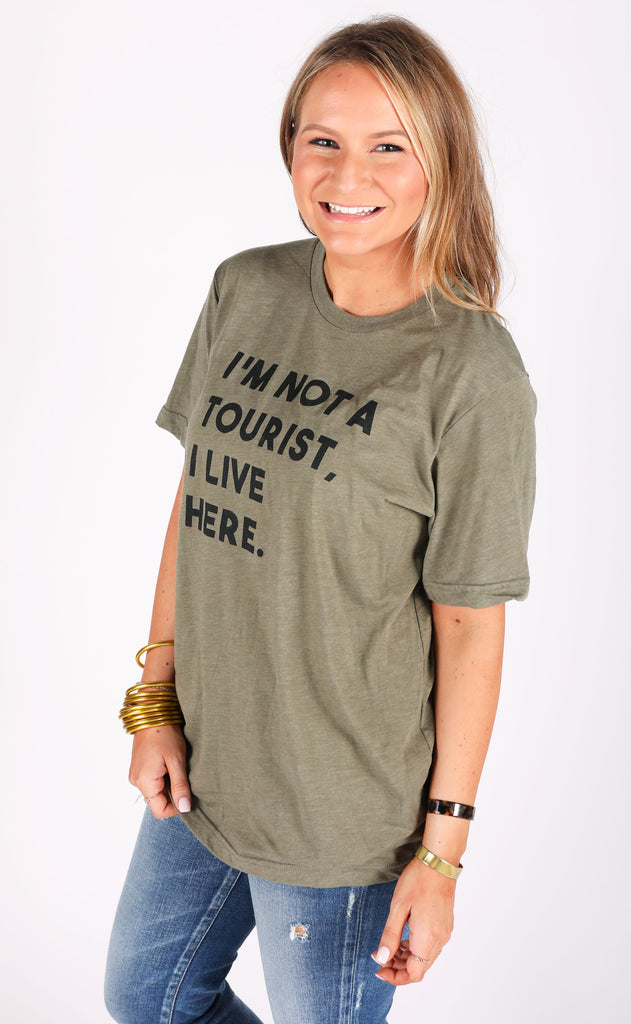 charlie southern: not a tourist t shirt