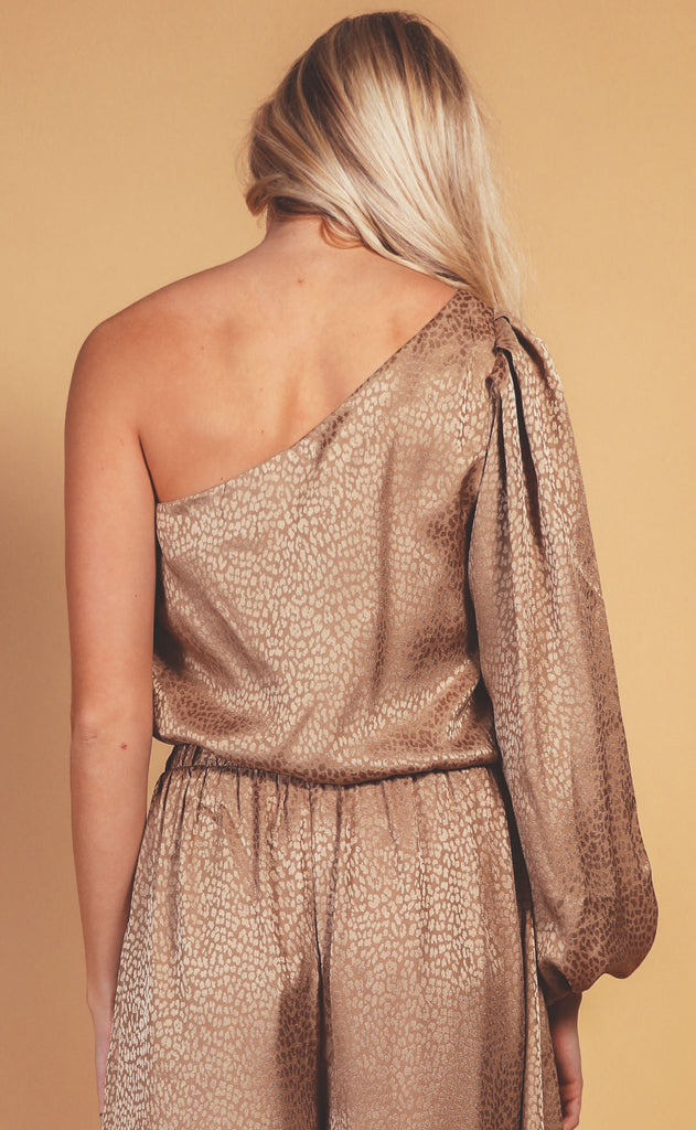 show me your mumu: party top - bronze cheetah