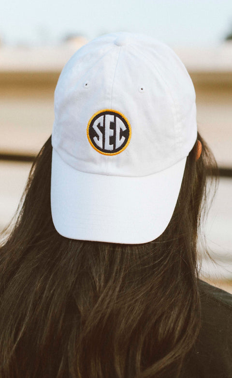charlie southern: SEC hat - white