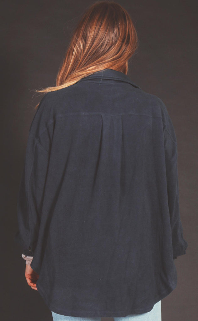 layered up fleece jacket - navy