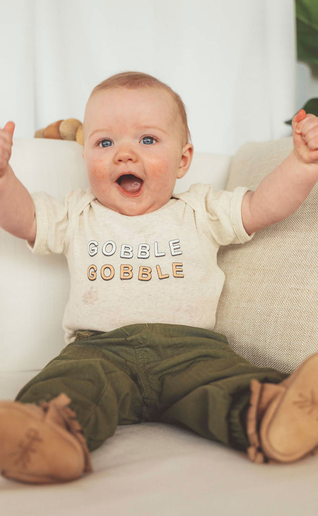 charlie southern: gobble gobble baby onesie