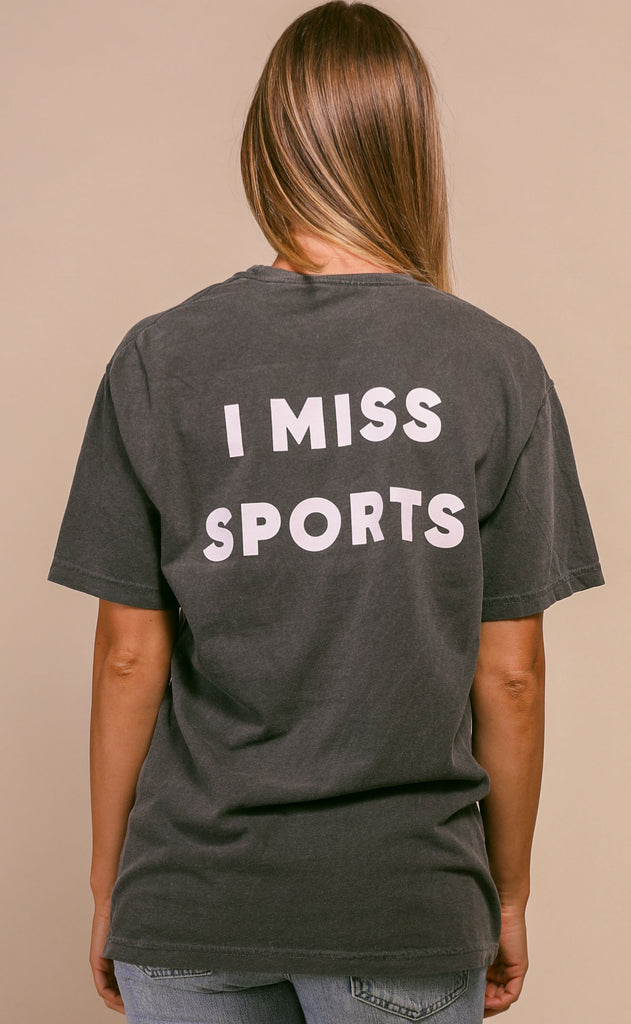 charlie southern: i miss sports pocket t shirt