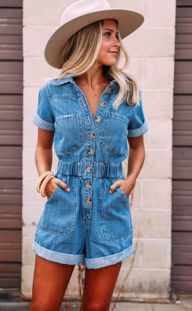show me your mumu: canyon romper - ocean spray