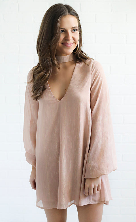 show me your mumu: josephine bell dress - sparkle and shine mauve