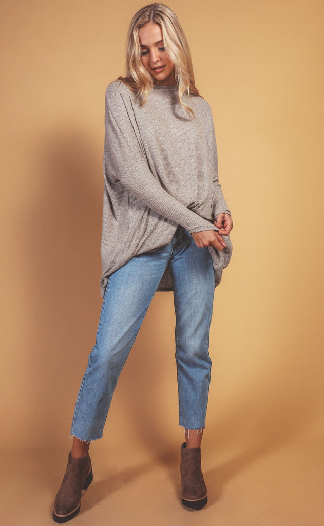 let's lounge ribbed tunic