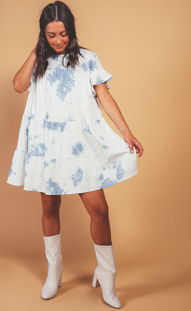 american classic tiered babydoll dress