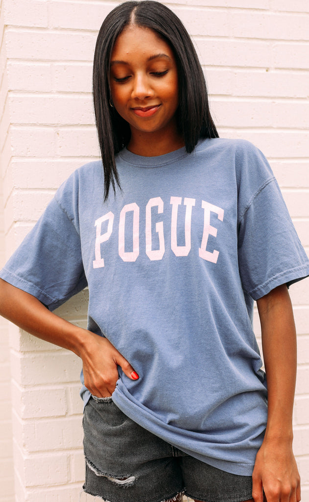 friday + saturday: pogue t shirt - blue