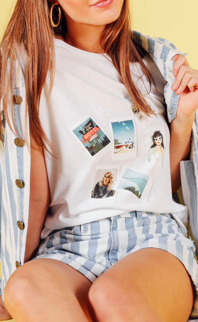 charlie southern: western dreams polaroid t shirt (PREORDER)