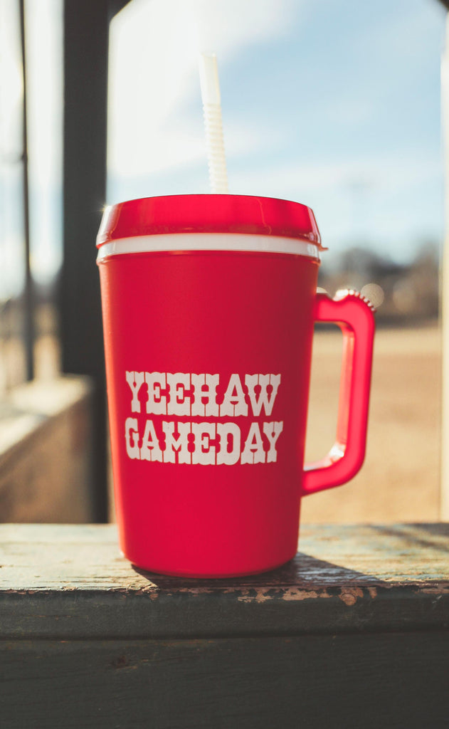 charlie southern: yeehaw gameday insulated mug - 34 oz.