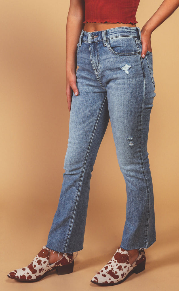 pistola: lennon high rise cropped boot jeans - phoenix