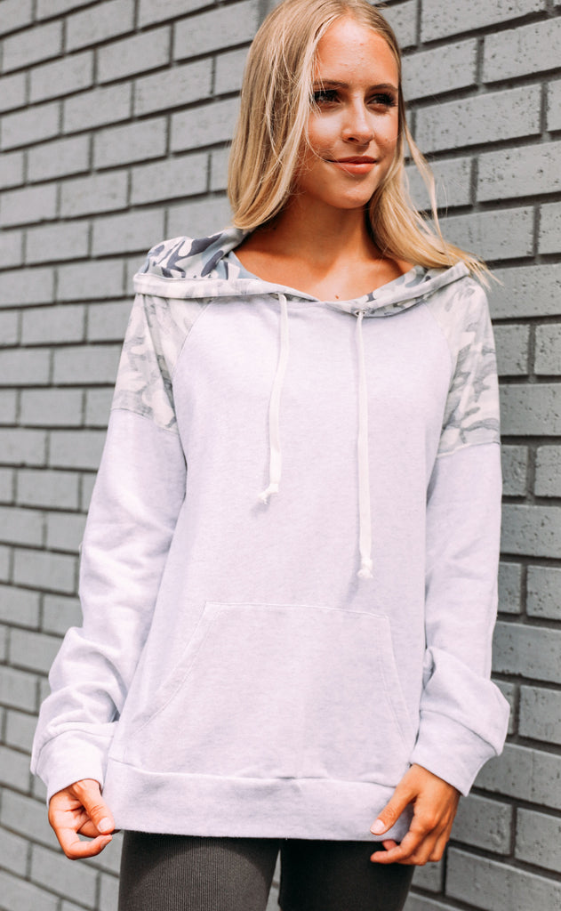 chilled out camo hoodie