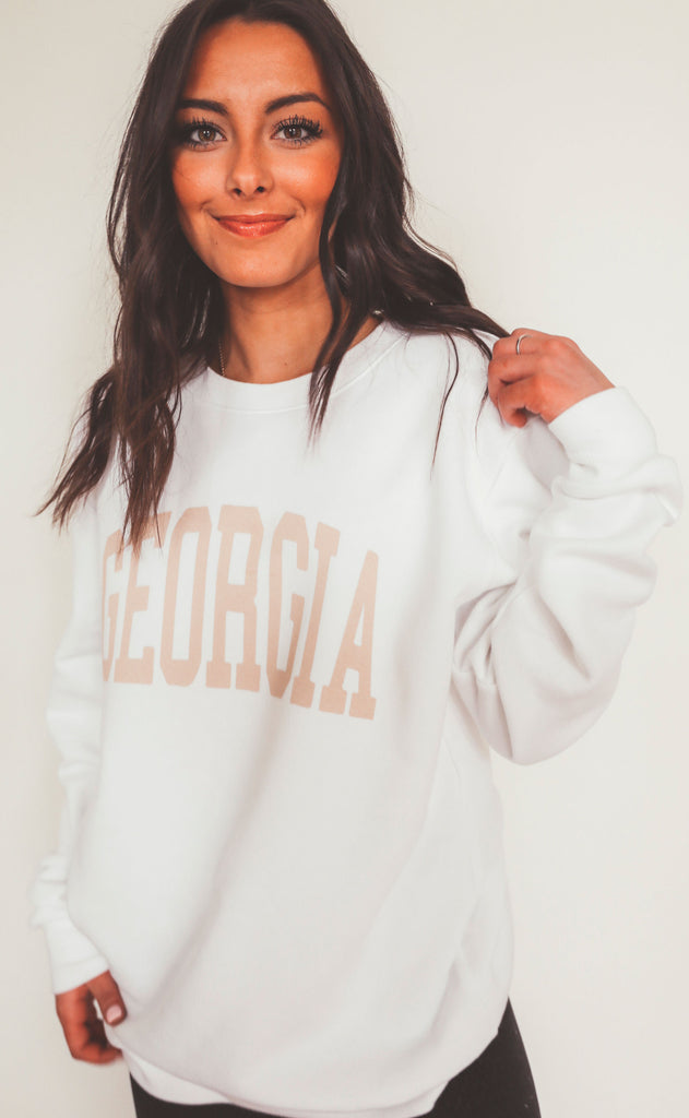 charlie southern: neutral feels state sweatshirt - georgia