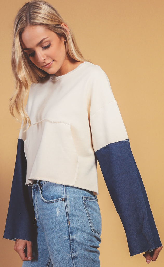 denim daze boxy sweater