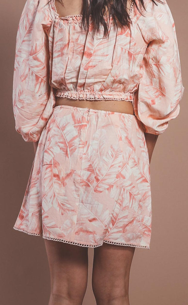 show me your mumu: iva wrap skirt - pink majestic palm