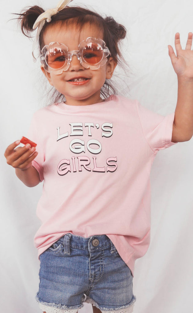 charlie southern: let's go girls toddler tee
