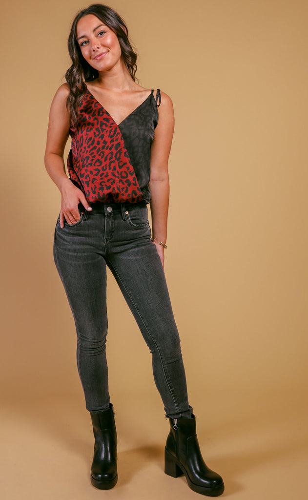 buddy love: crystal bodysuit - merlot cat