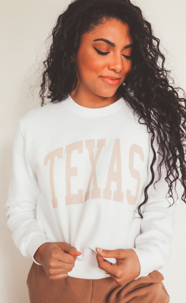 charlie southern: neutral feels state sweatshirt - texas