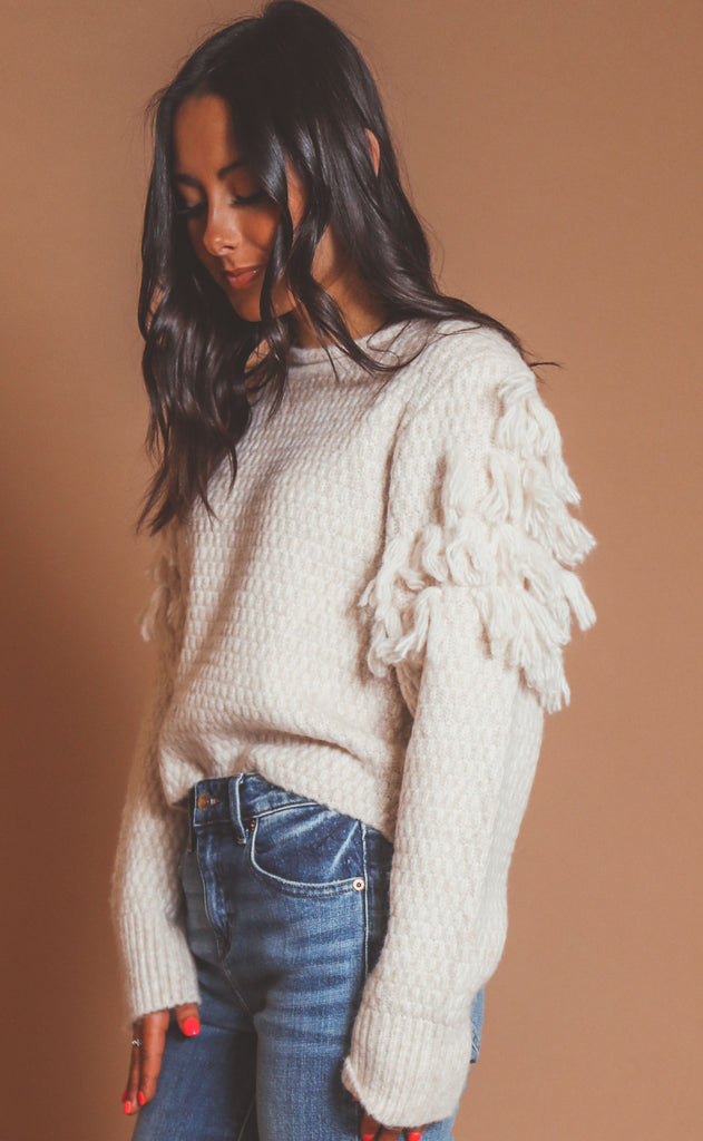 amuse society: rocha sweater - oatmeal