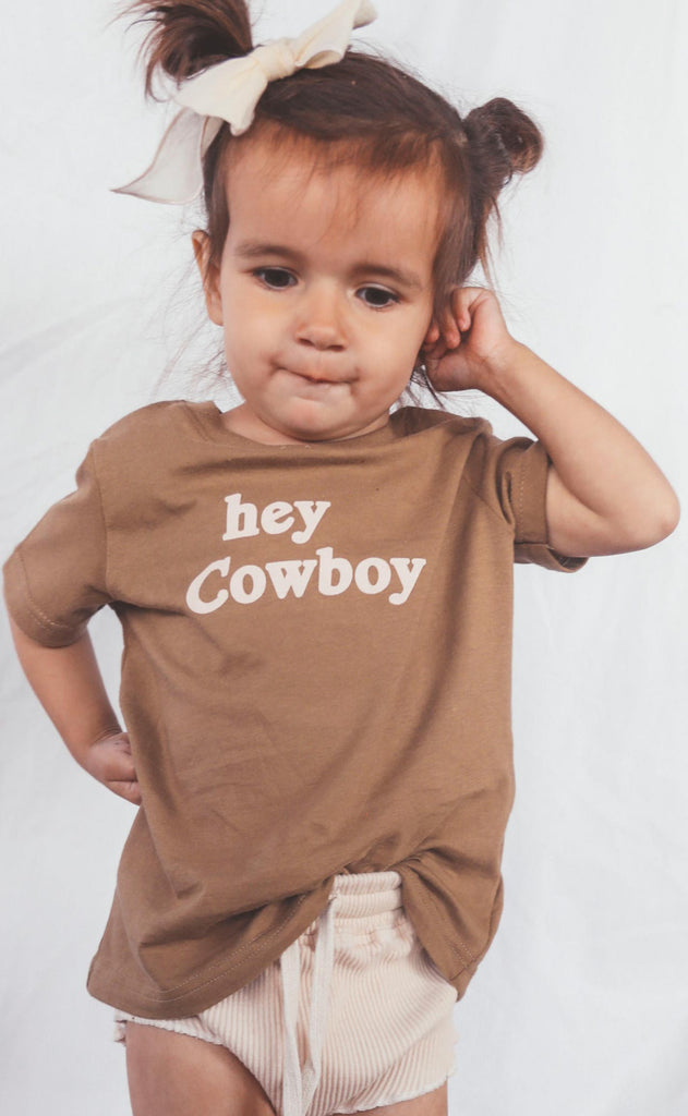 charlie southern: hey cowboy toddler tee
