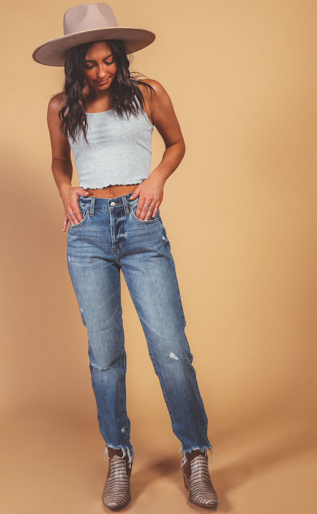 pistola: charlie high rise straight leg jeans - florence