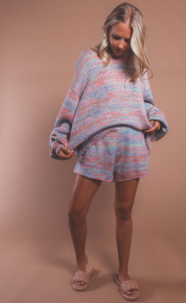 show me your mumu: huntington shorts - spacedye knit