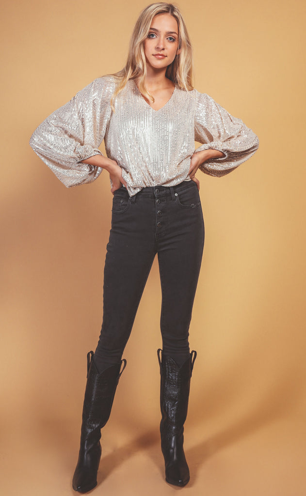 light up the night blouse
