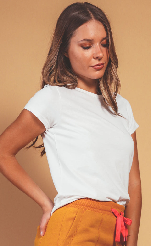 richer poorer: classic short sleeve tee - white
