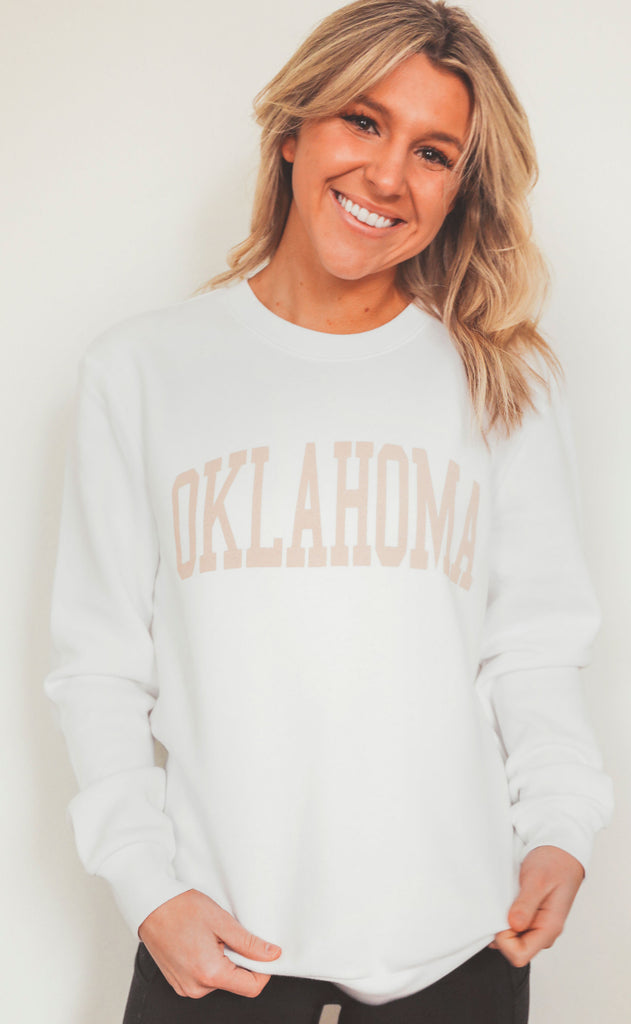 charlie southern: neutral feels state sweatshirt - oklahoma