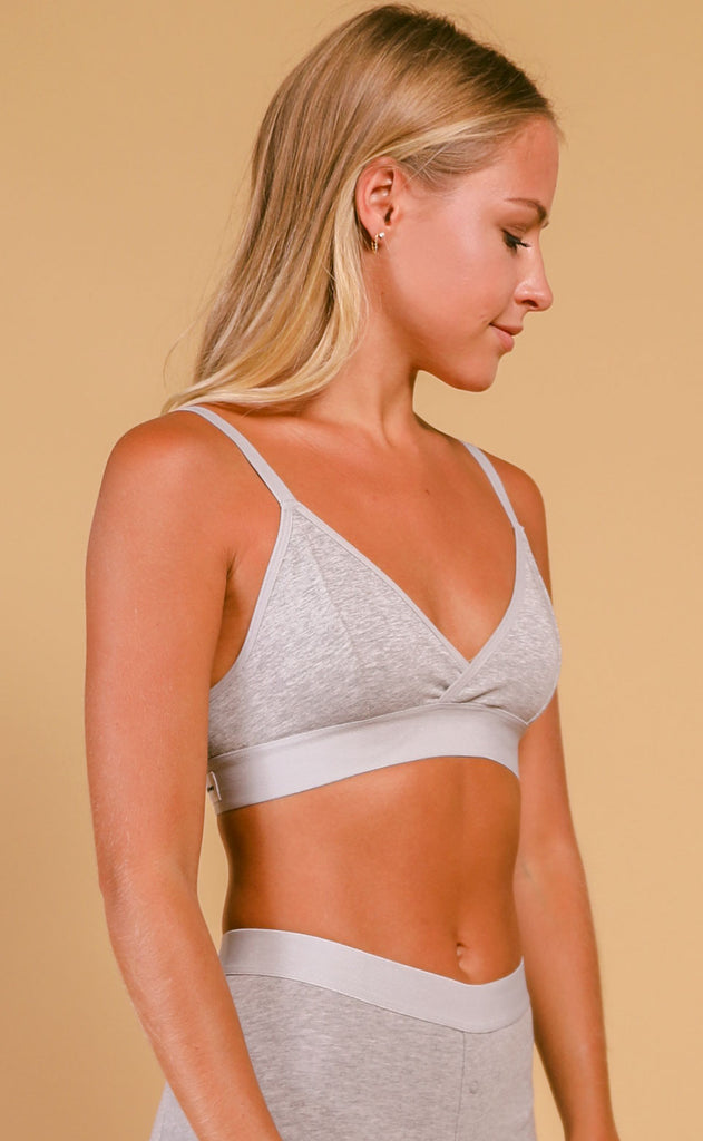 richer poorer: classic bralette - heather grey