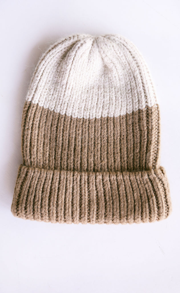 amuse society: block party knit beanie - surplus