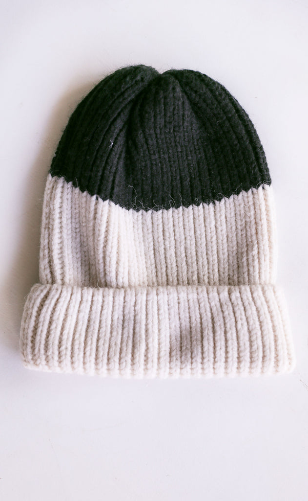 amuse society: block party knit beanie - casablanca