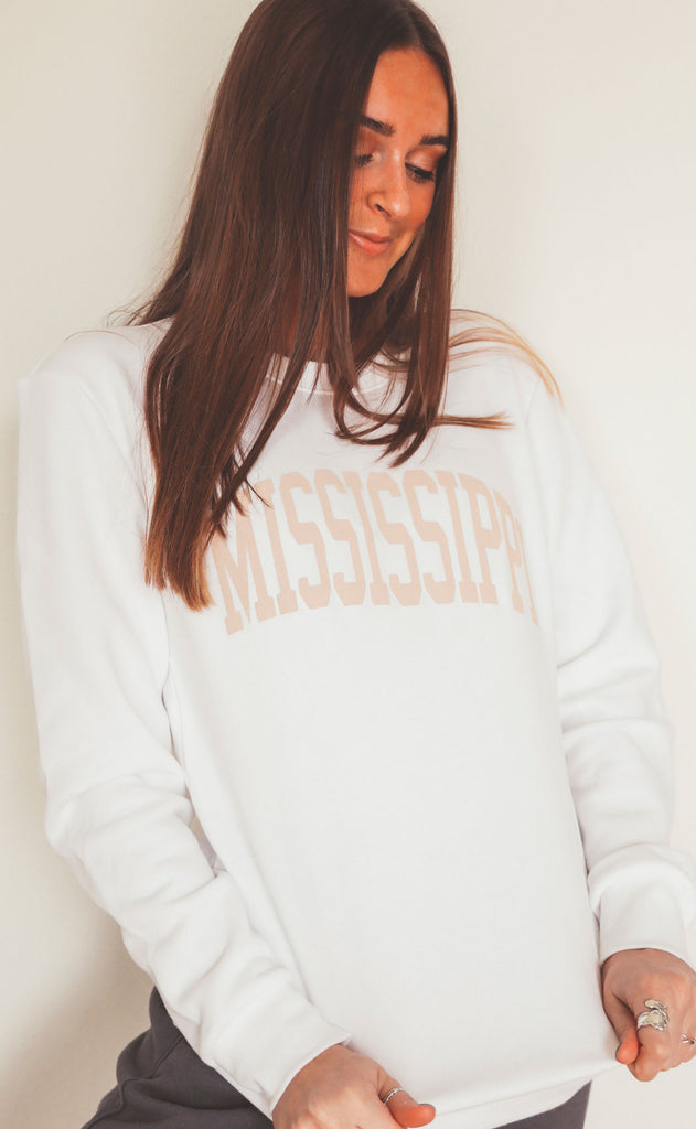 charlie southern: neutral feels state sweatshirt - mississippi