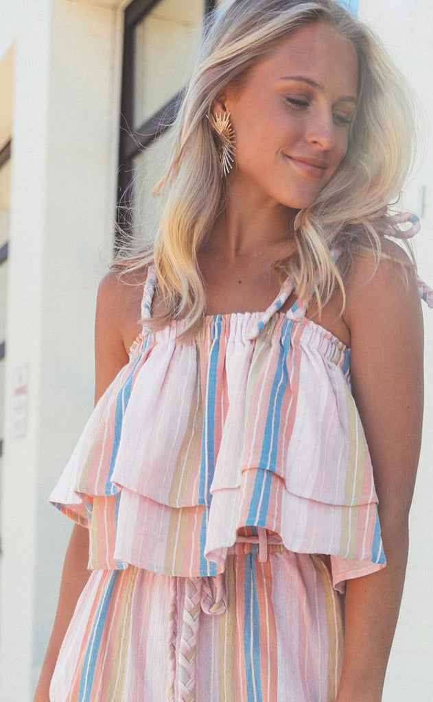 wildin' out babydoll top camel - extended
