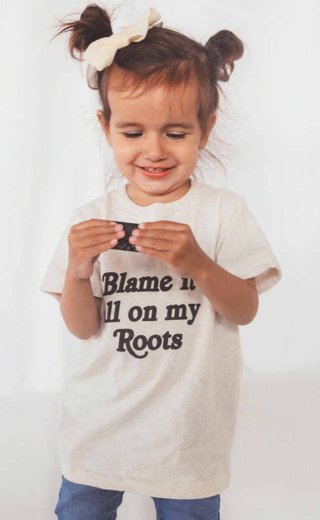 charlie southern: blame it all on my roots toddler tee