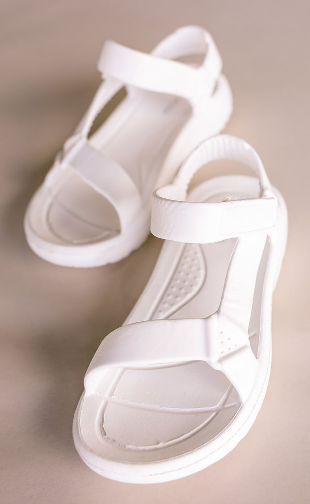 on the go sandals - white