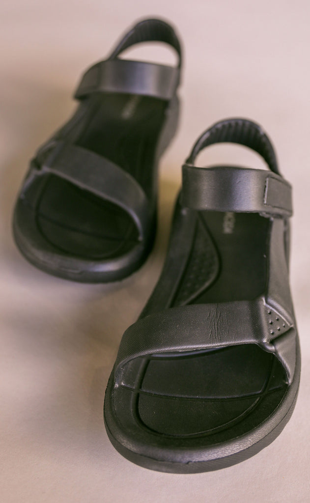 on the go sandals - black