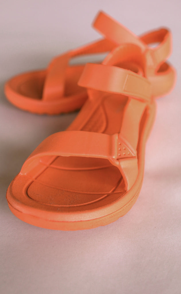 on the go sandals - coral