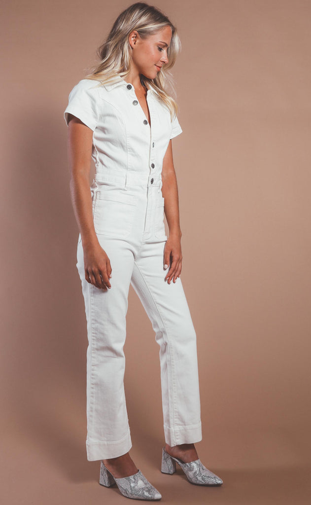 show me your mumu: cropped everhart jumpsuit - pearly white
