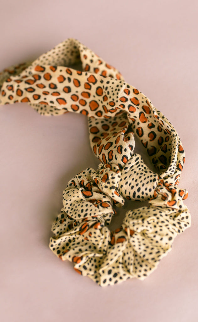 amuse society: swept away scrunchie scarf - natural