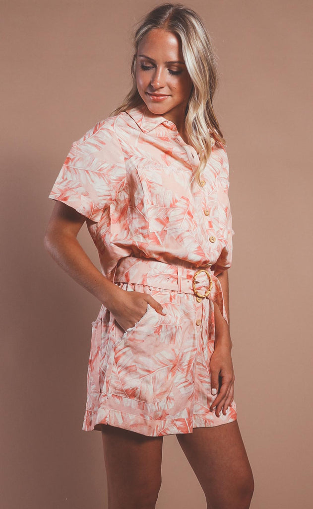 show me your mumu: bexley romper - pink majestic palm