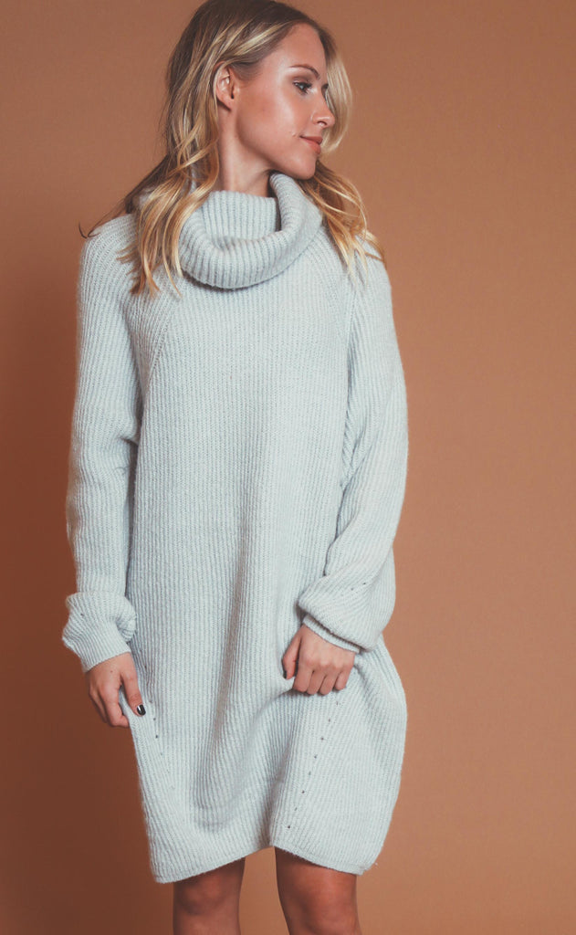 slip over sweater dress - grey