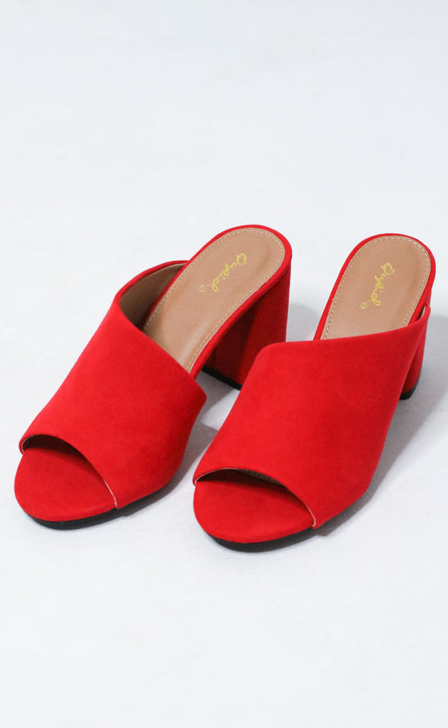 catwalk mule - red