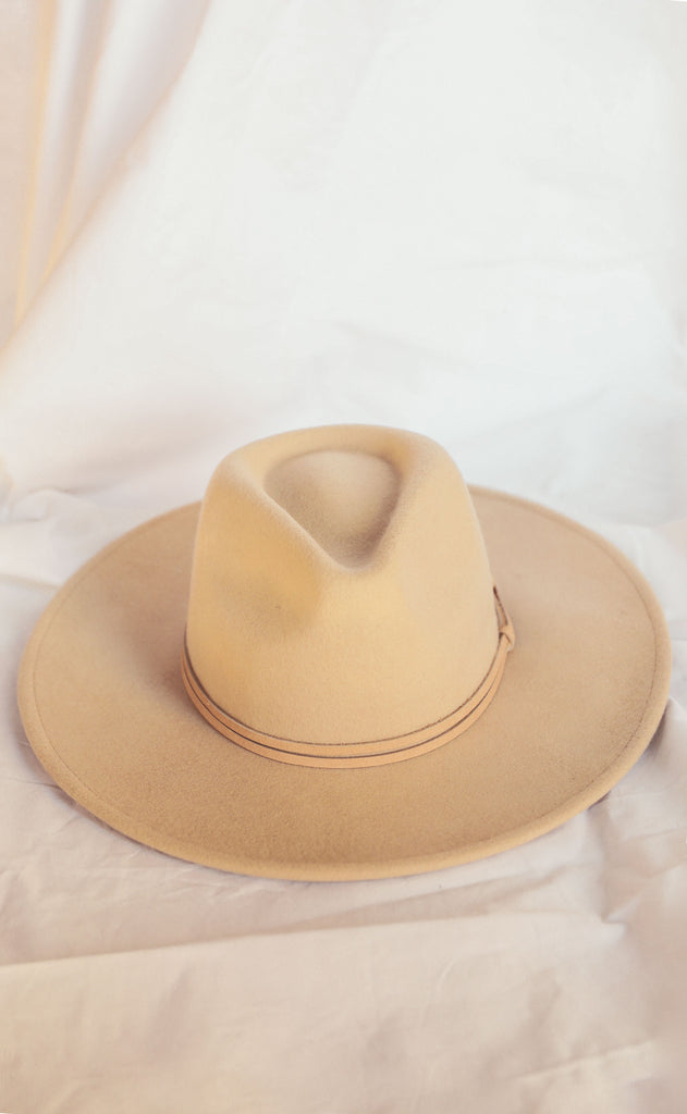 canyon belted hat - beige