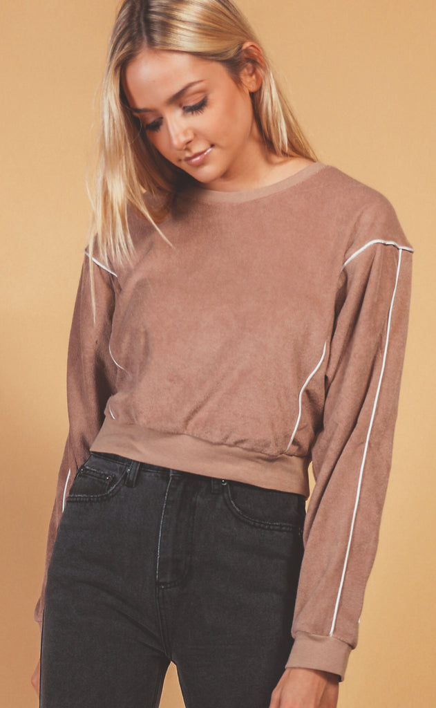 on the go crop pullover