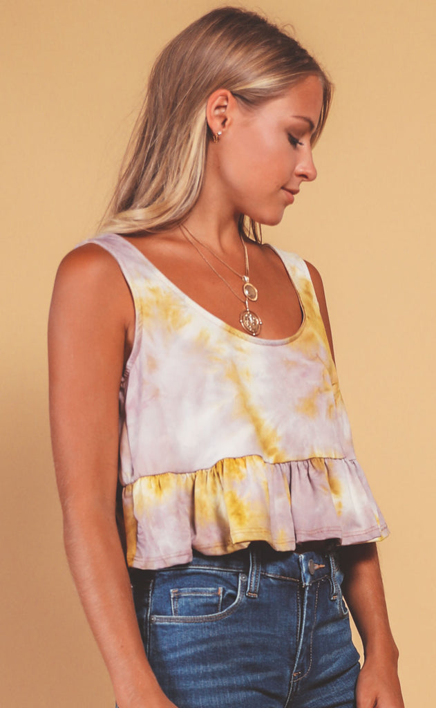 weekending tie dye top