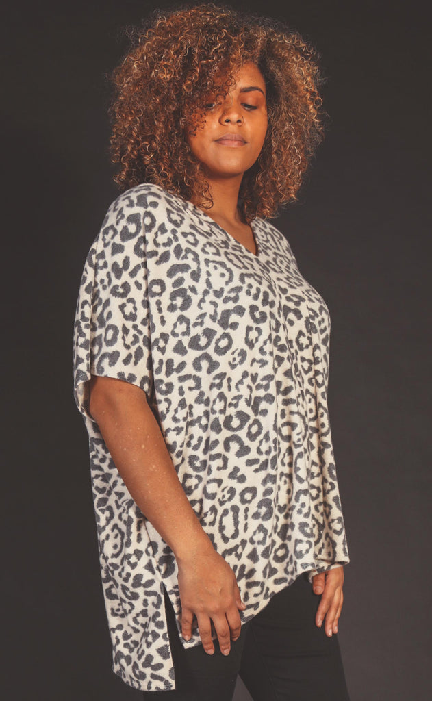feline you leopard tunic - extended