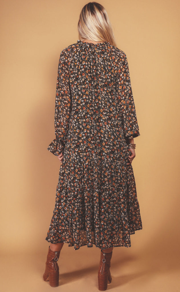 autumn days printed dress
