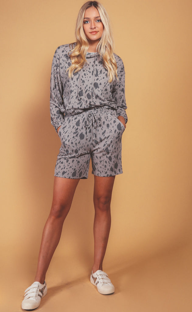 khloe casual animal print lounge set