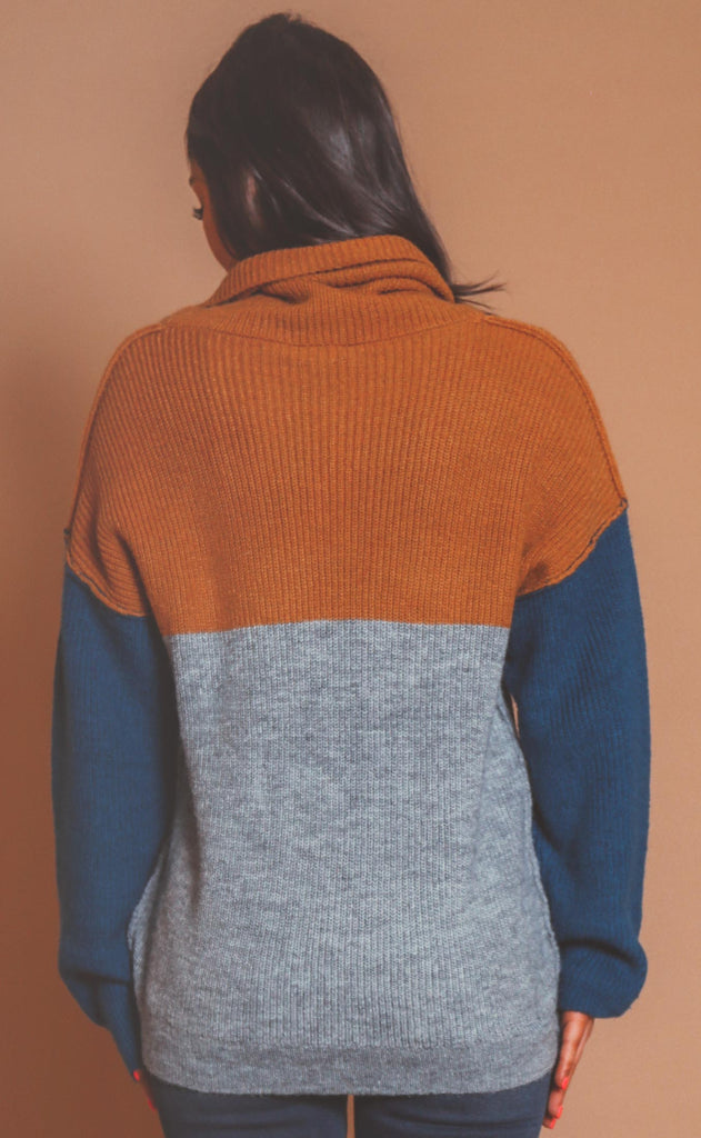 all the right moves colorblocked sweater